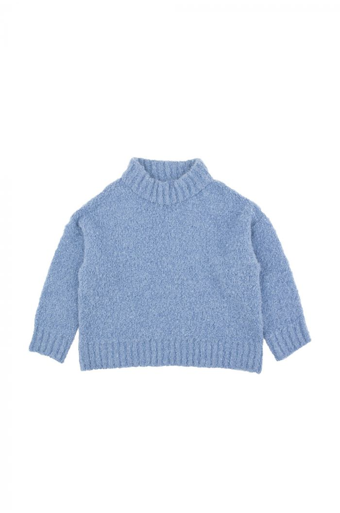 Tinycottons fluffy mock sweater Blue
