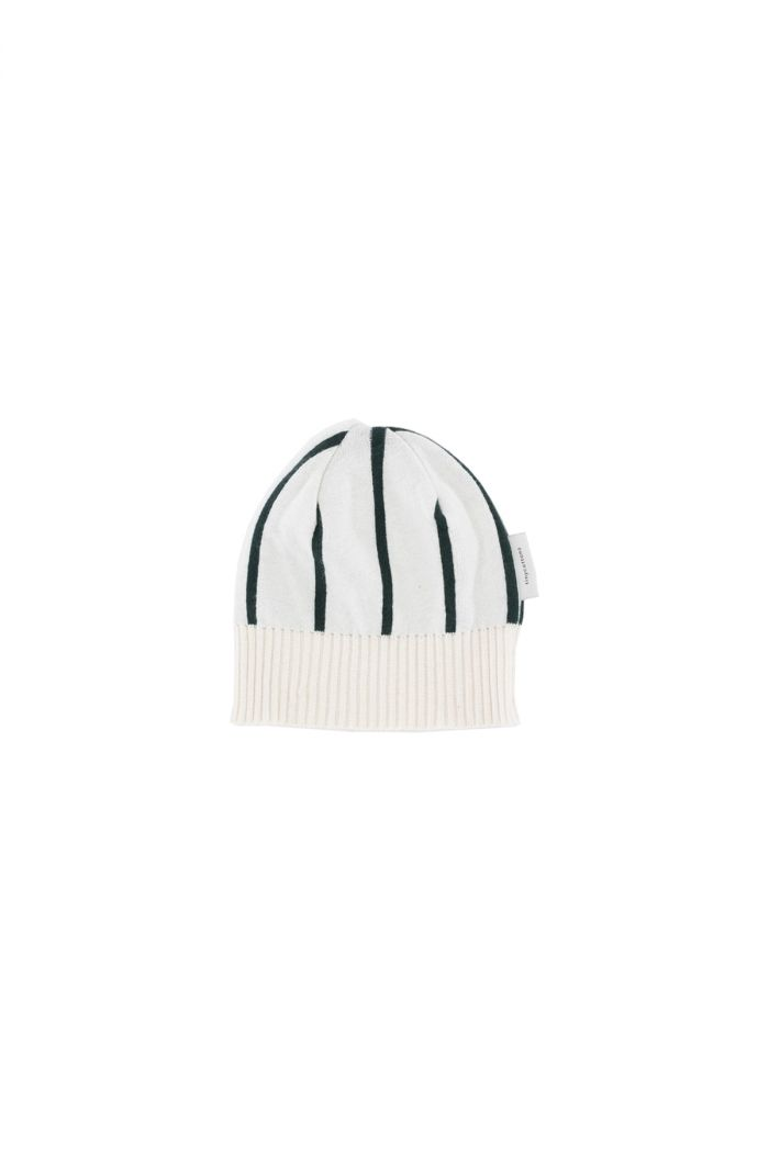 Tinycottons stripes beanie Beige / Dark green