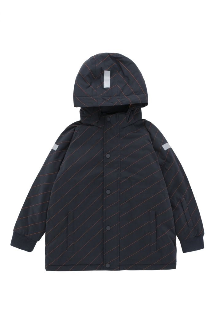 Tinycottons diagonal stripes snow jacket Navy / Red