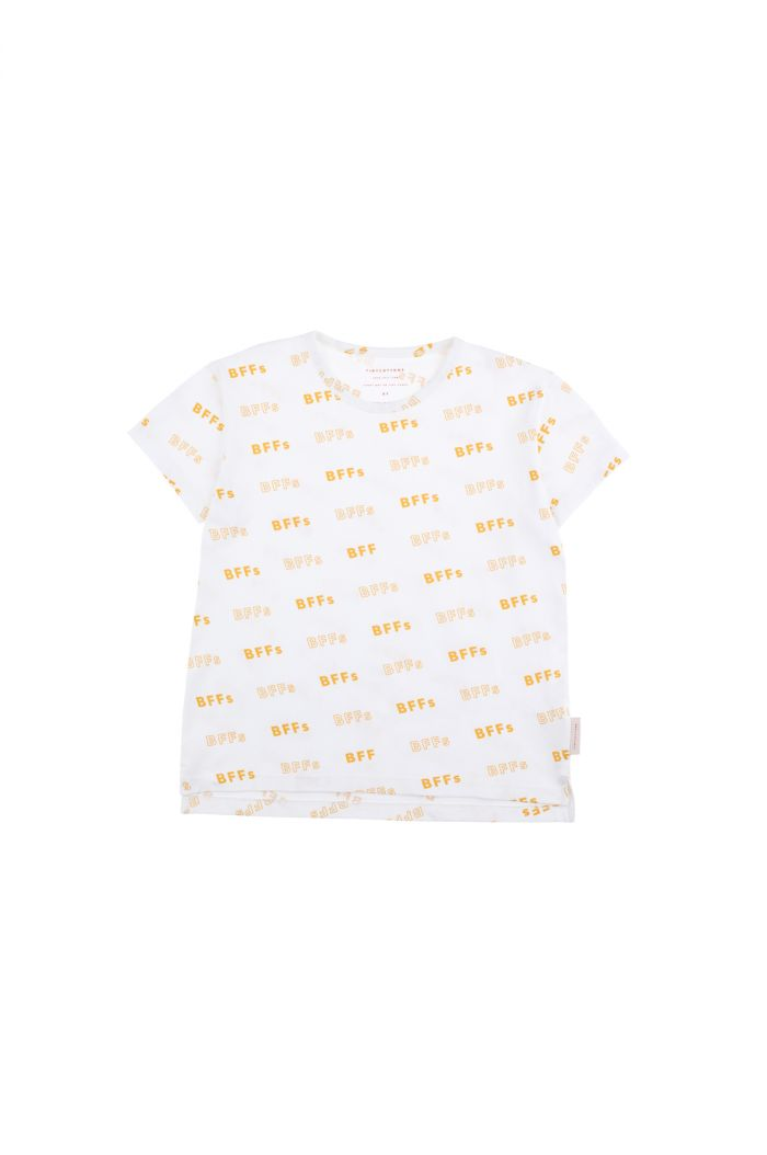 Tinycottons 'bffs' short sleeve tee off-white/canary