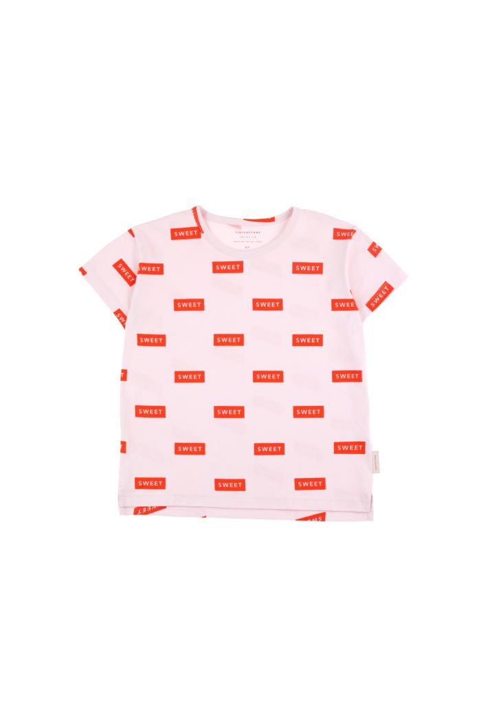 Tinycottons 'sweet' short sleeve tee pearl/red