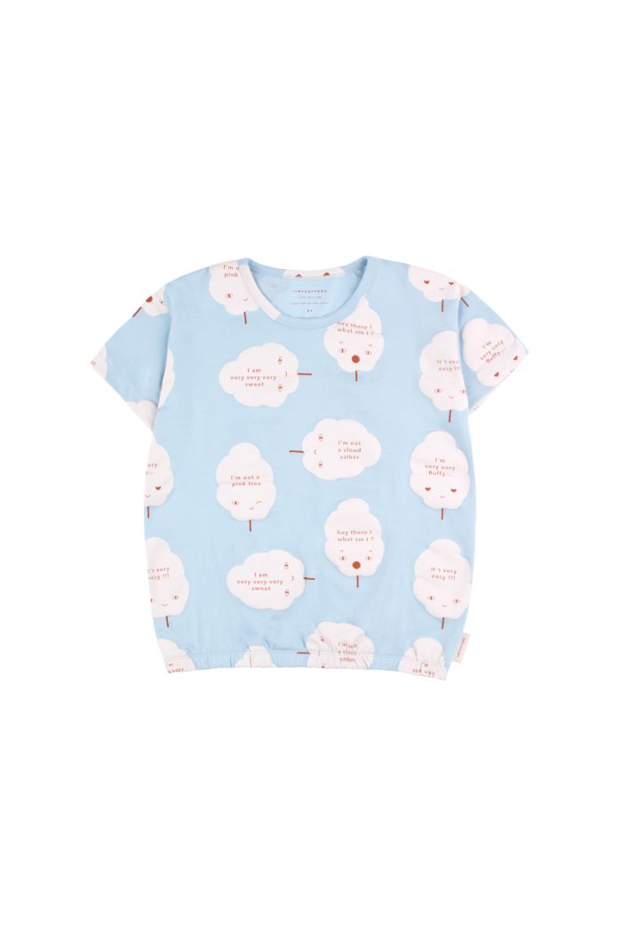 Tinycottons 'candy floss' short sleeve tee mild blue/pearl