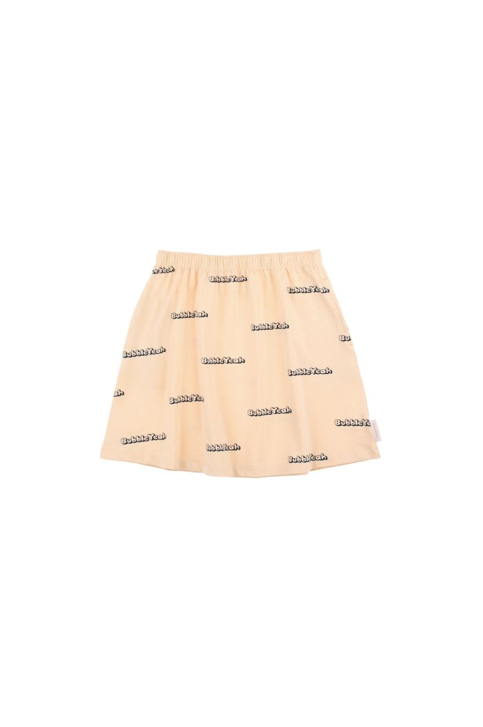 Tinycottons 'bubble yeah' short skirt cream/navy
