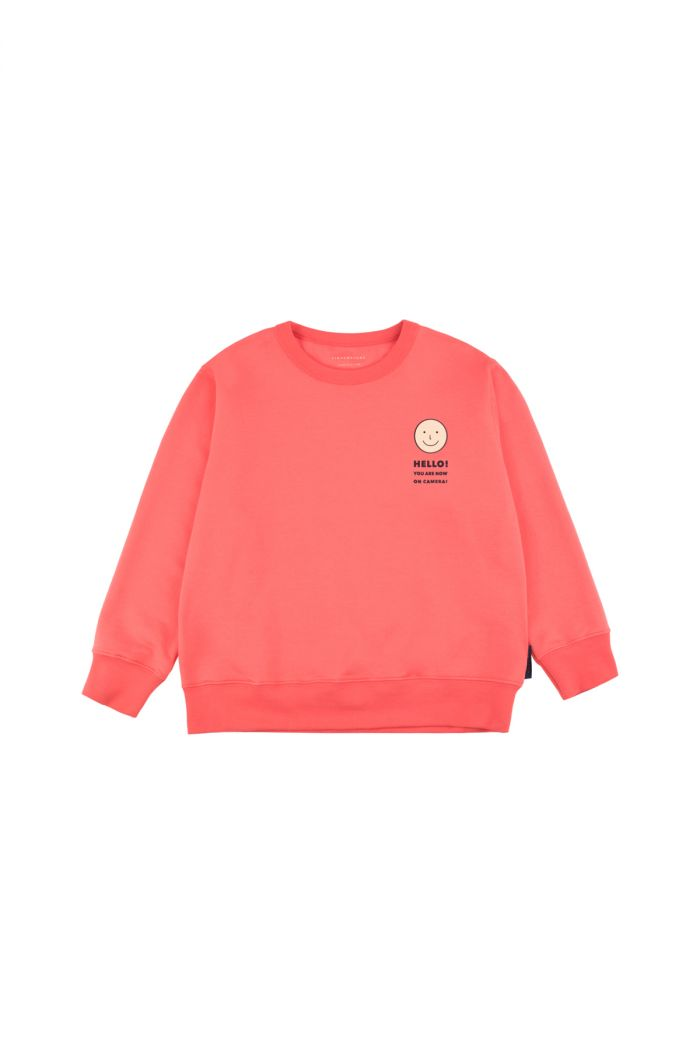 Tinycottons 'smile' sweatshirt light red/cream