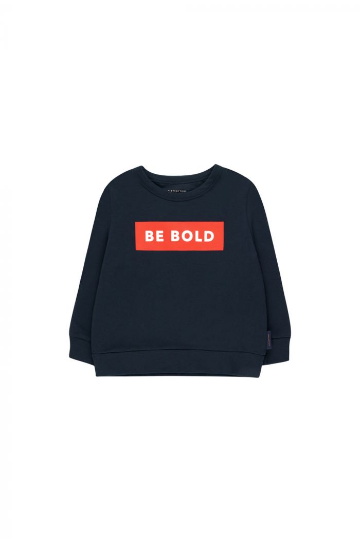 Tinycottons 'smile' sweatshirt navy/red