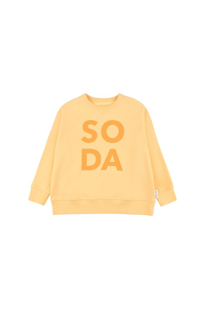 Tinycottons 'soda' sweatshirt canary/deep yellow