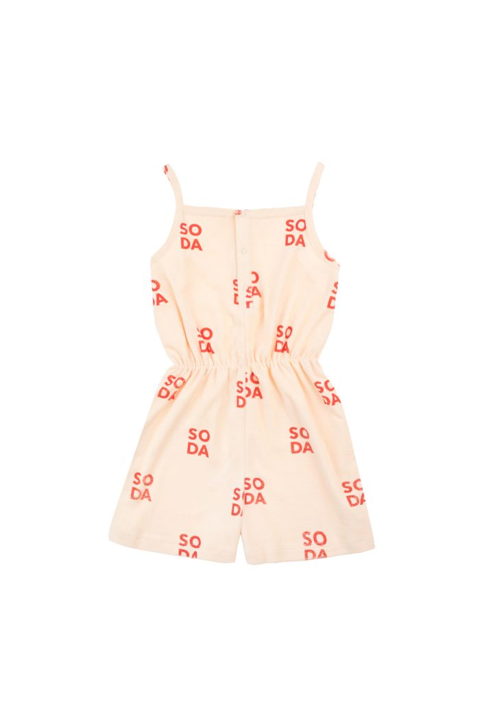 Tinycottons 'soda' romper cream/red