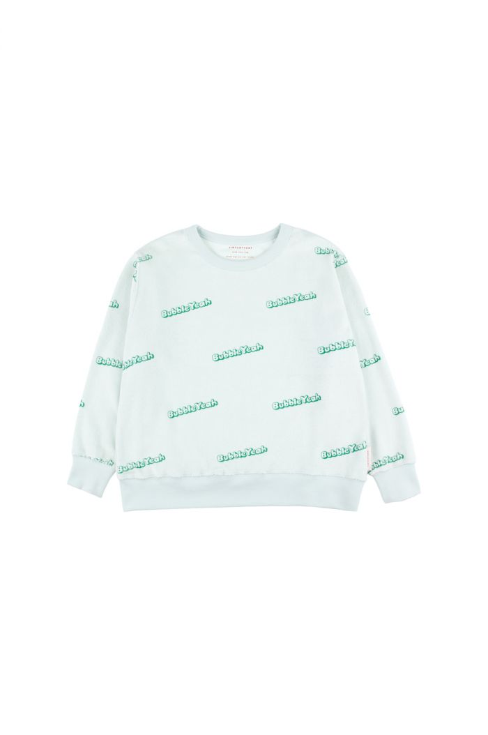 Tinycottons 'bubble yeah' sweatshirt light mint/deep green