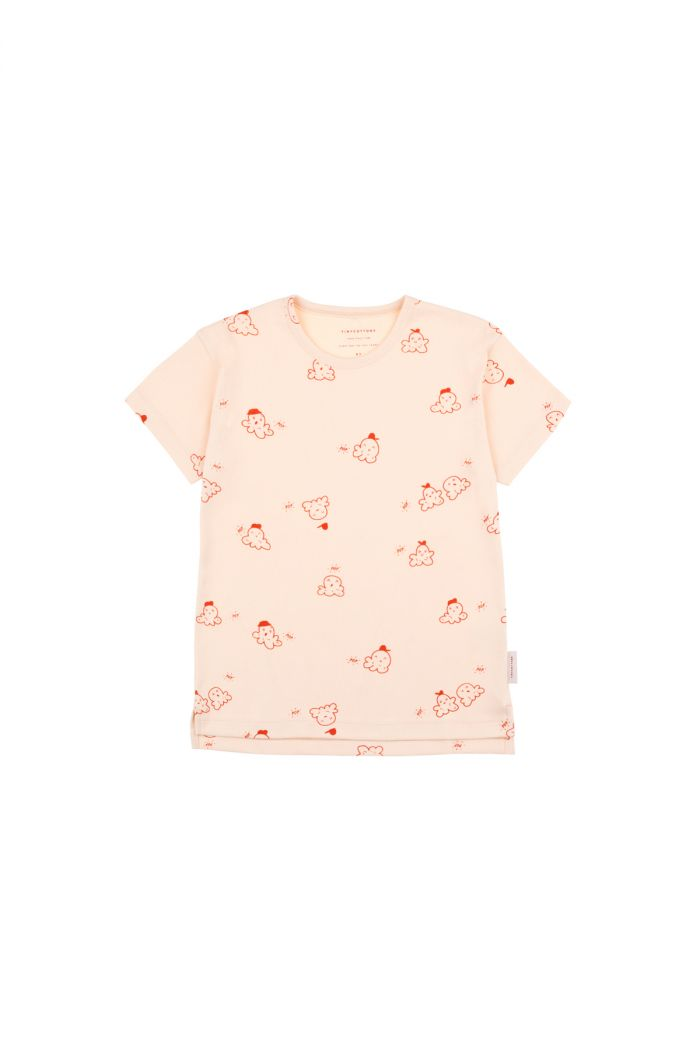 Tinycottons 'popcorn' short sleeve tee cream/red