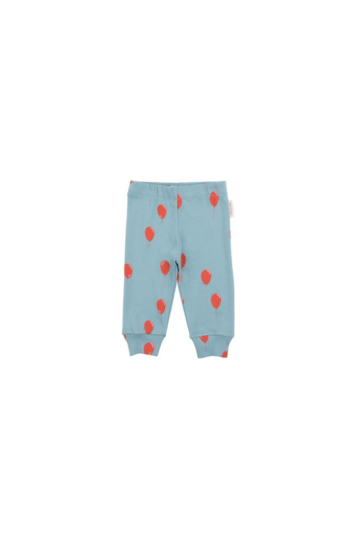 Tinycottons 'balloons' pant sea grey/red