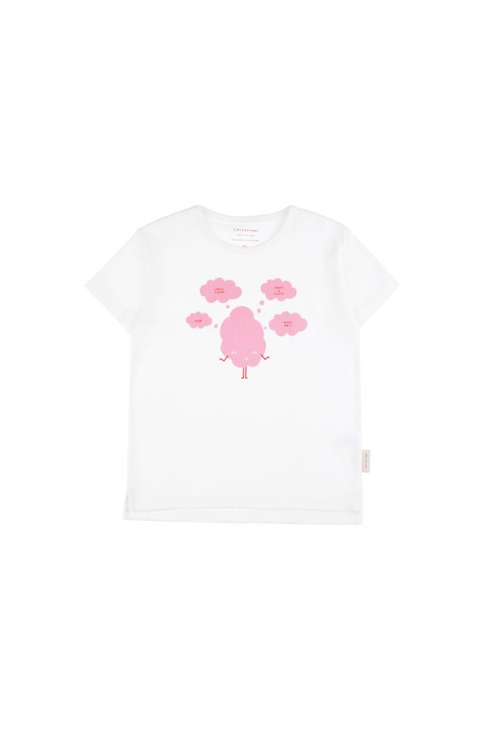 Tinycottons 'sweet & fluffy' short sleeve tee off-white/pink