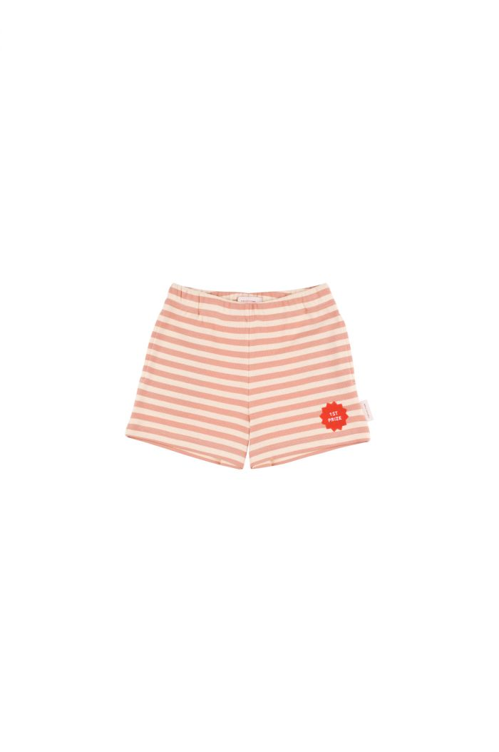 Tinycottons '1st prize' short cream/terracotta