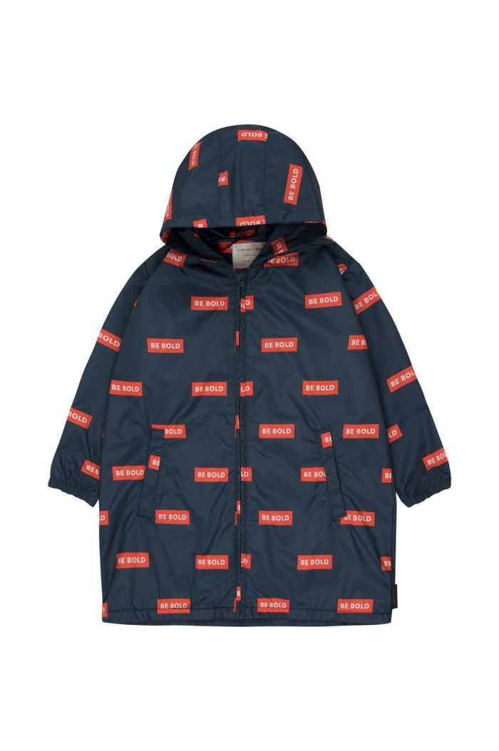 Tinycottons 'smile' windbreaker navy/red