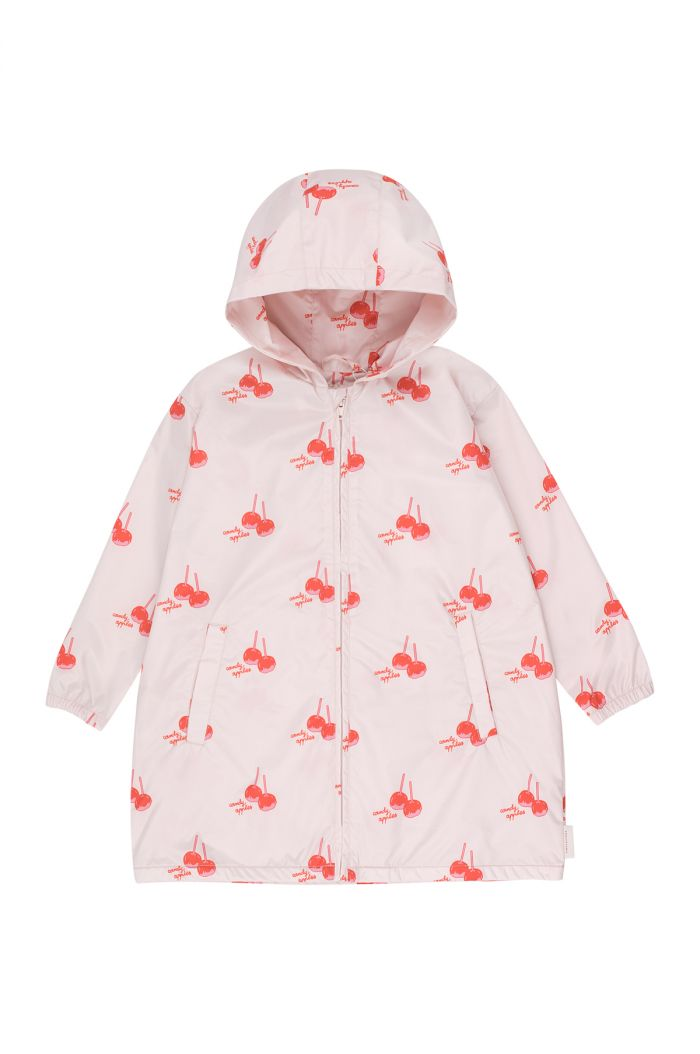 Tinycottons 'candy apples' windbreaker pearl/red
