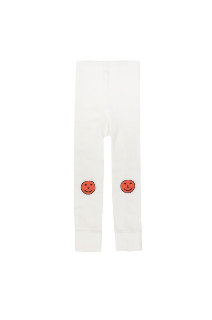 Tinycottons 'happy faces' leggings off-white/red