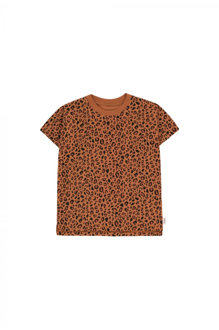Tinycottons Animal Print Shortsleeve Tee brown/dark brown