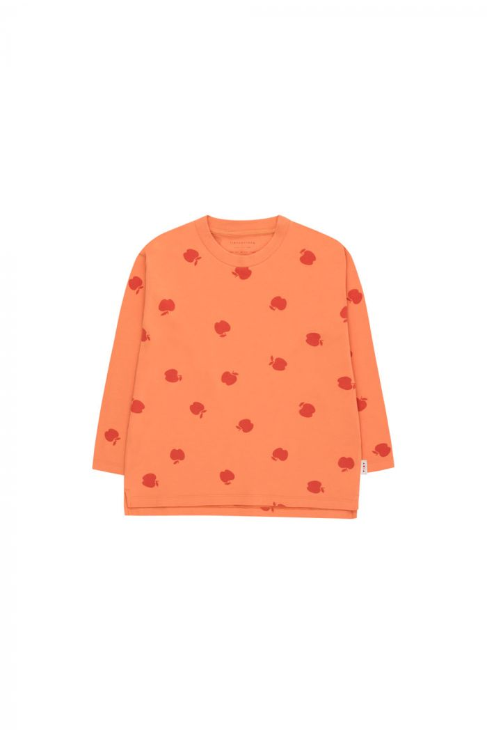 Tinycottons Apples Longsleeve Tee coral/burgundy