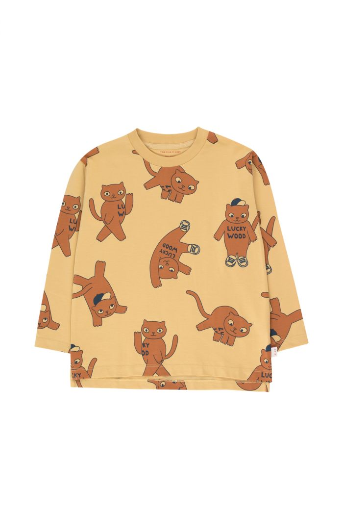 Tinycottons Cats Longsleeve Tee sand/brown