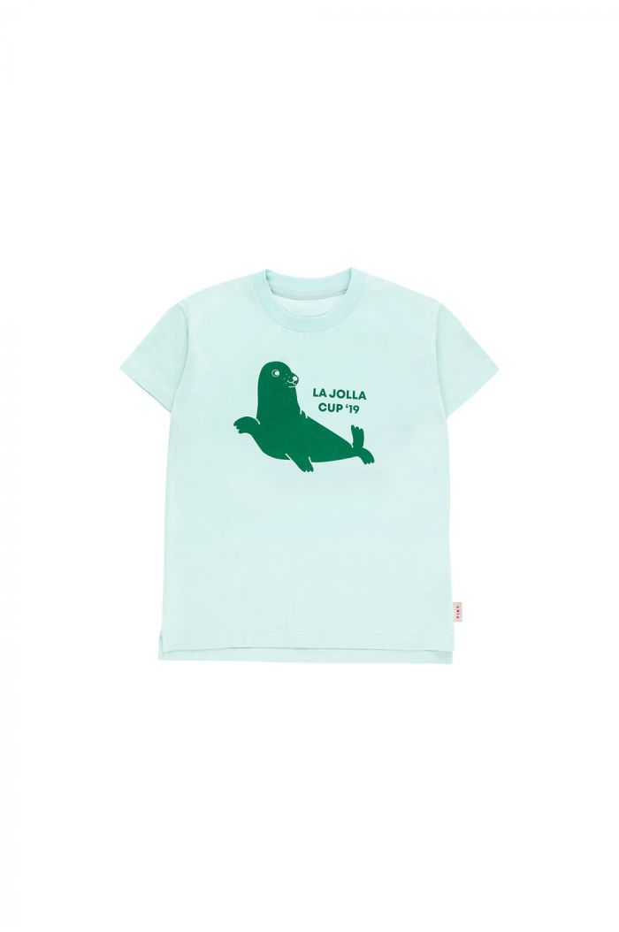 Tinycottons Seal Shortsleeve Tee light mint/deep green