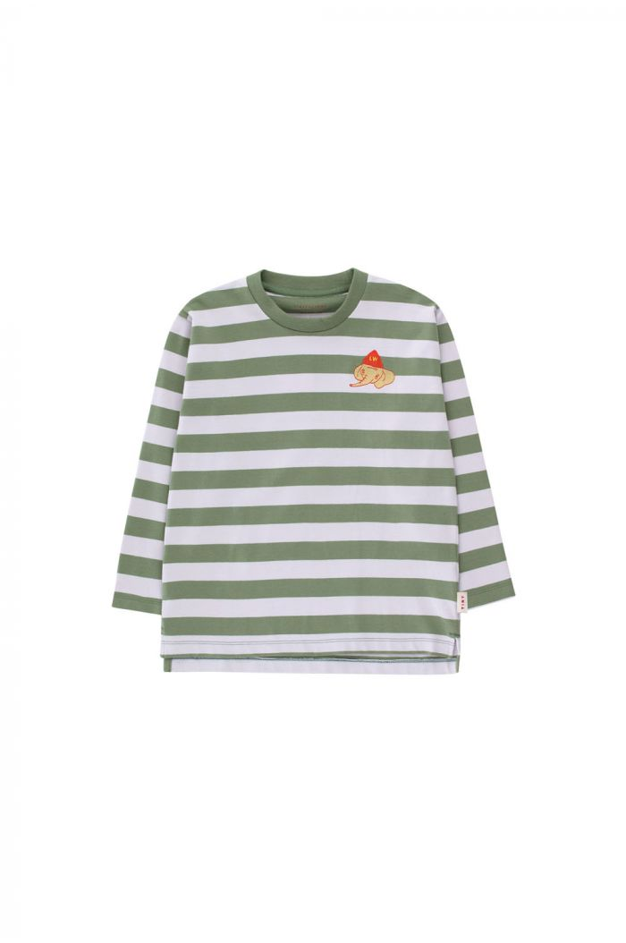 Tinycottons Stripes Longsleeve Tee green wood/light lilac