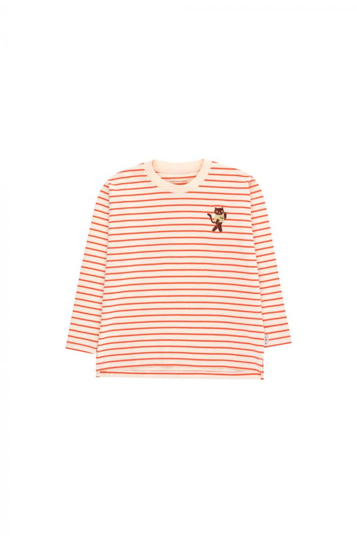 Tinycottons Stripes Longsleeve Tee light cream/red