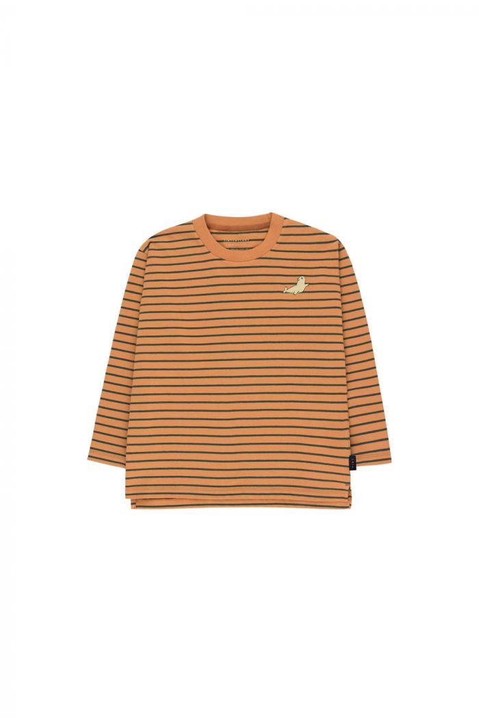 Tinycottons Stripes Longsleeve Tee brown/bottle green