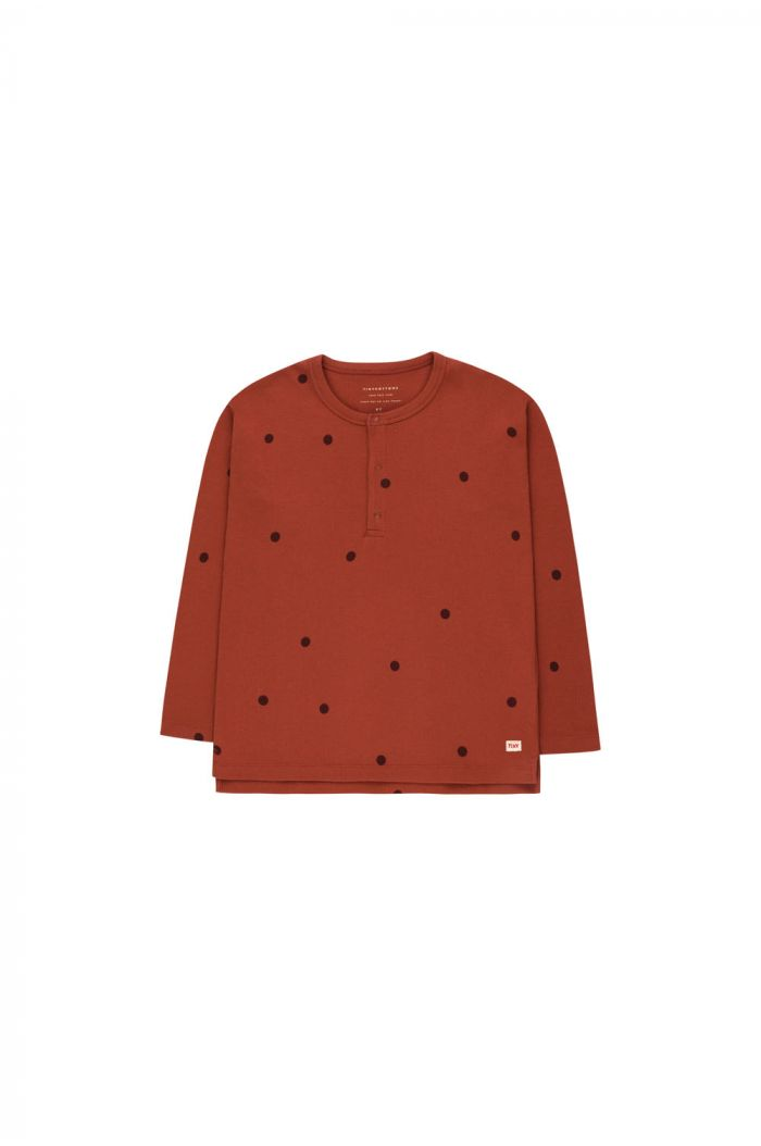 Tinycottons Dots Tee dark brown/aubergine