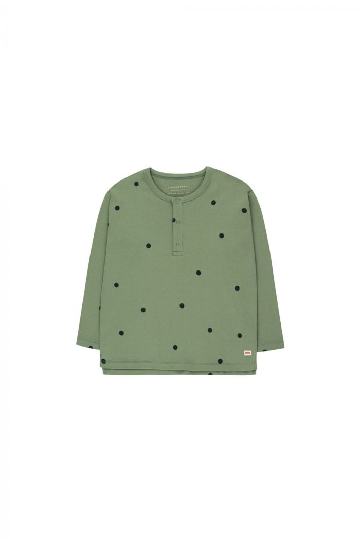 Tinycottons Dots Tee green wood/bottle green