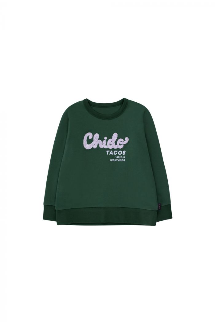 Tinycottons Chido Sweatshirt bottle green/lilac