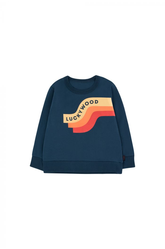 Tinycottons Wave Sweatshirt true navy/sand