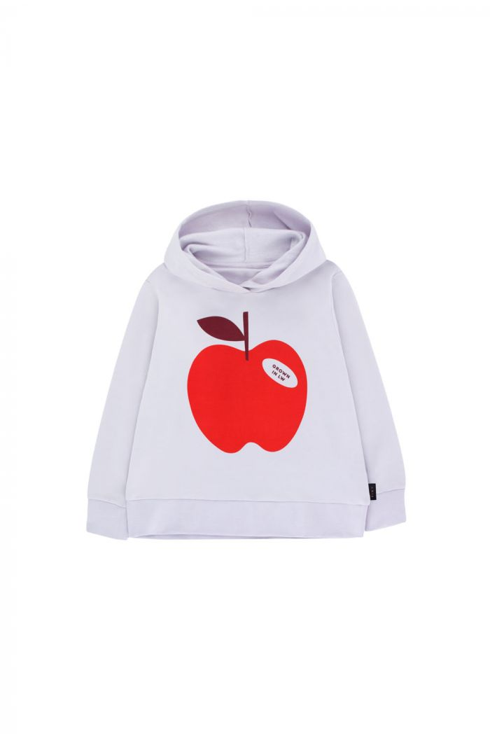 Tinycottons Apple Hoody Sweatshirt light lilac/burgundy