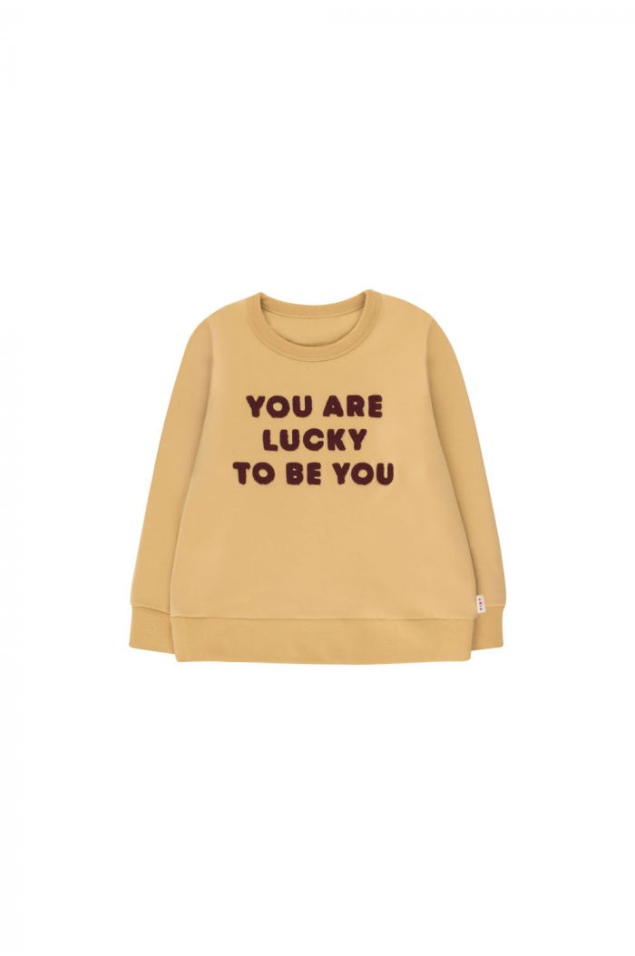 Tinycottons You Are Lucky Sweatshirt sand/aubergine