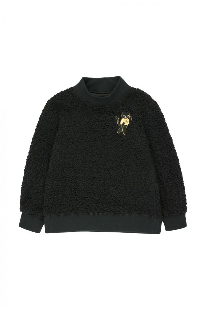 Tinycottons Cat Sweatshirt black/sand