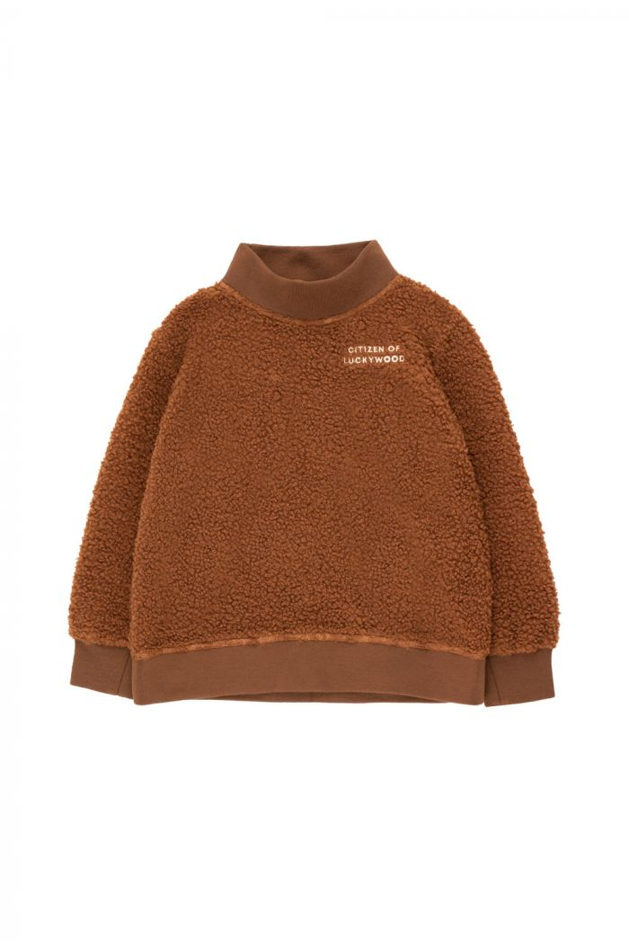 Tinycottons Citizen Of Luckywood Sweatshirt dark brown/light cream
