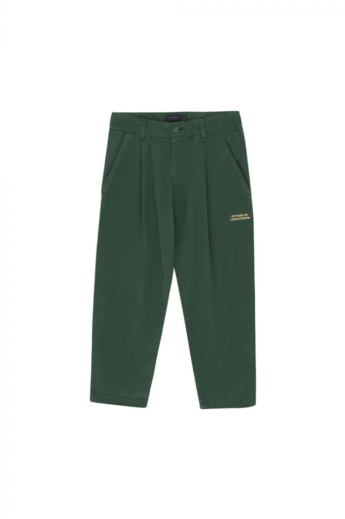Tinycottons Lw Citizen Pleated Pant bottle green
