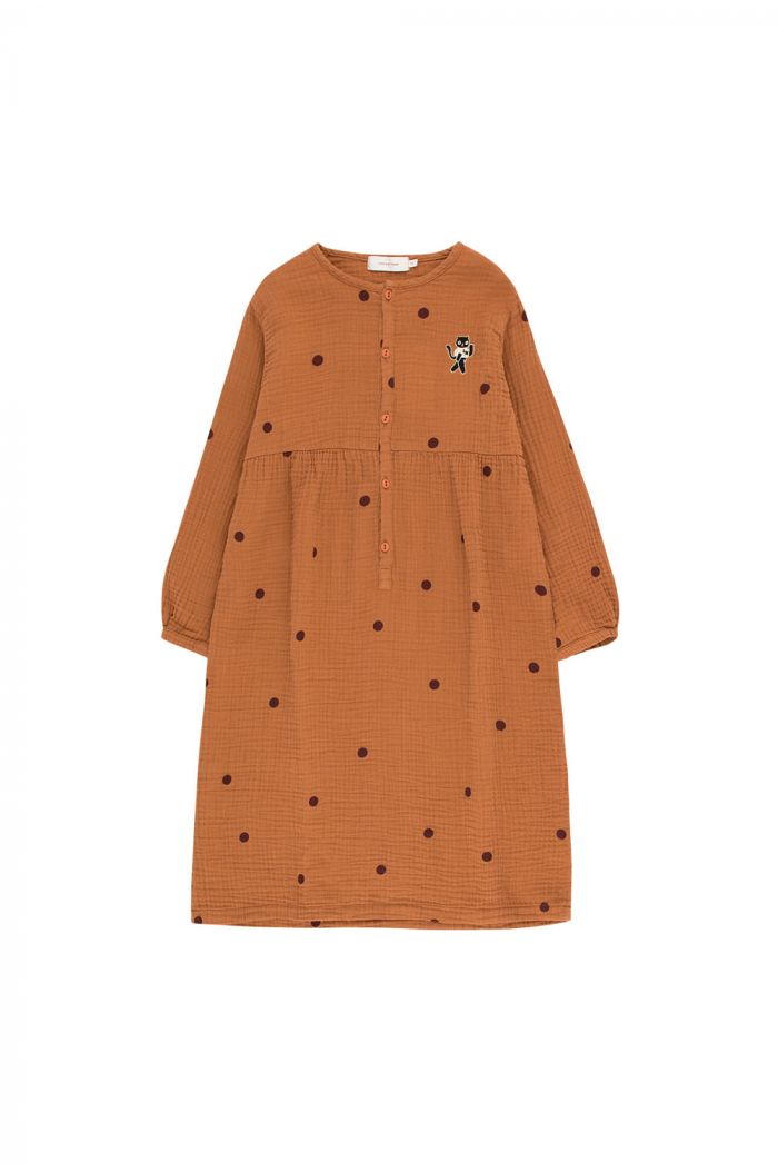 "Tinycottons Dots ""Cat"" Dress brown/aubergine"
