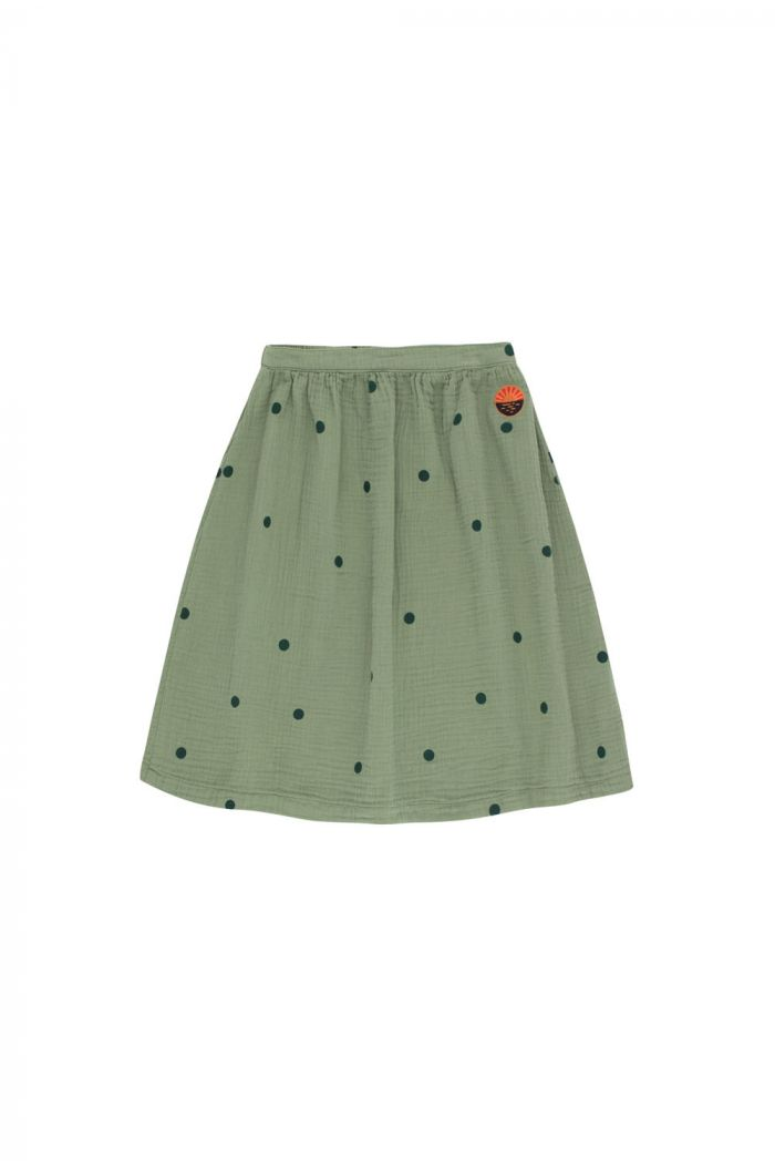 "Tinycottons Dots ""Sunset"" Long Skirt green wood/bottle green"