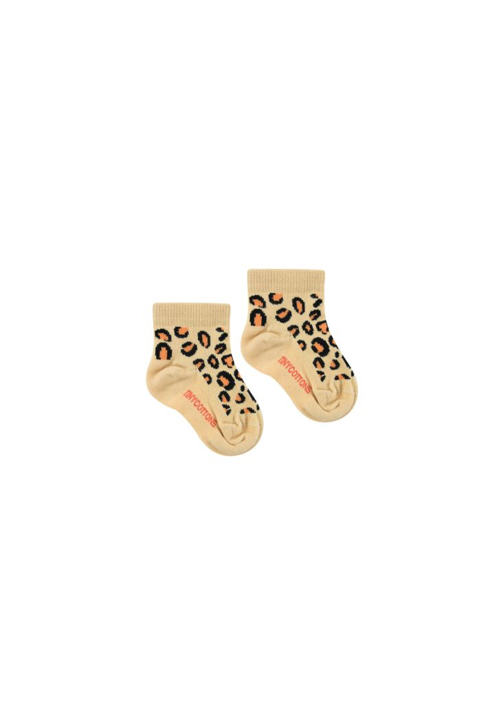 Tinycottons Animal Pattern Quarter Socks Baby sand/brown