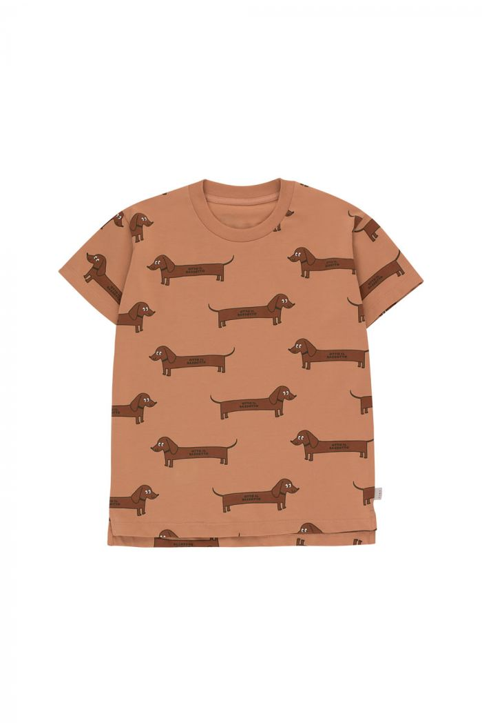 Tinycottons Il Bassotto Tee tan/dark brown