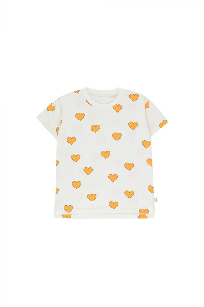 Tinycottons Hearts Tee off-white/yellow