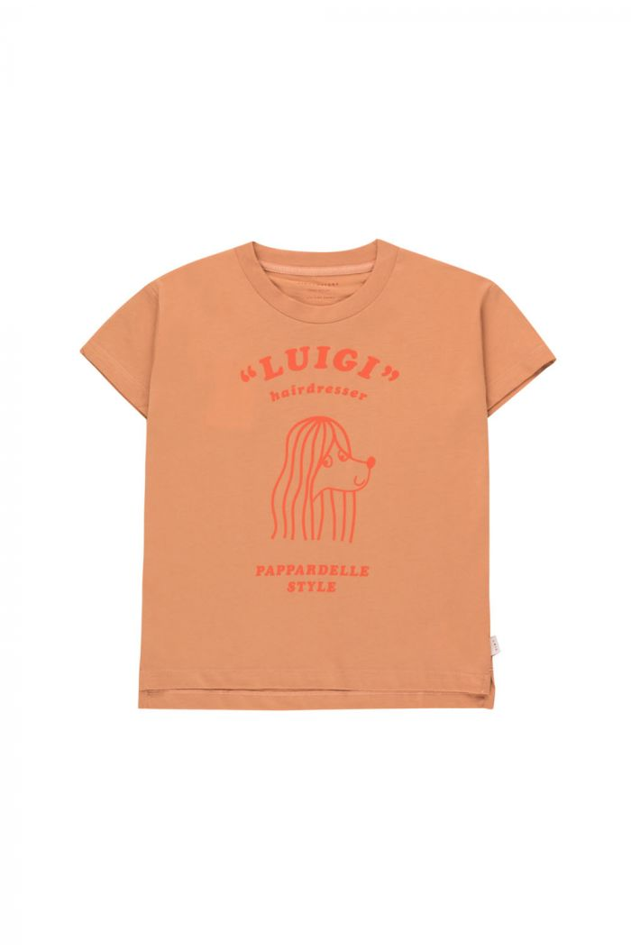 Tinycottons Pappardelle Style Tee tan/red