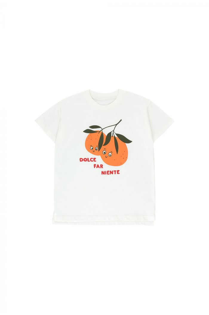 Tinycottons Oranges Tee off-white/brick