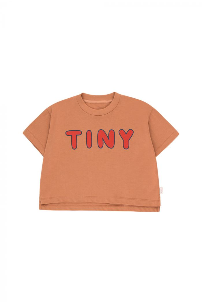 Tinycottons Tiny Crop Tee tan/red