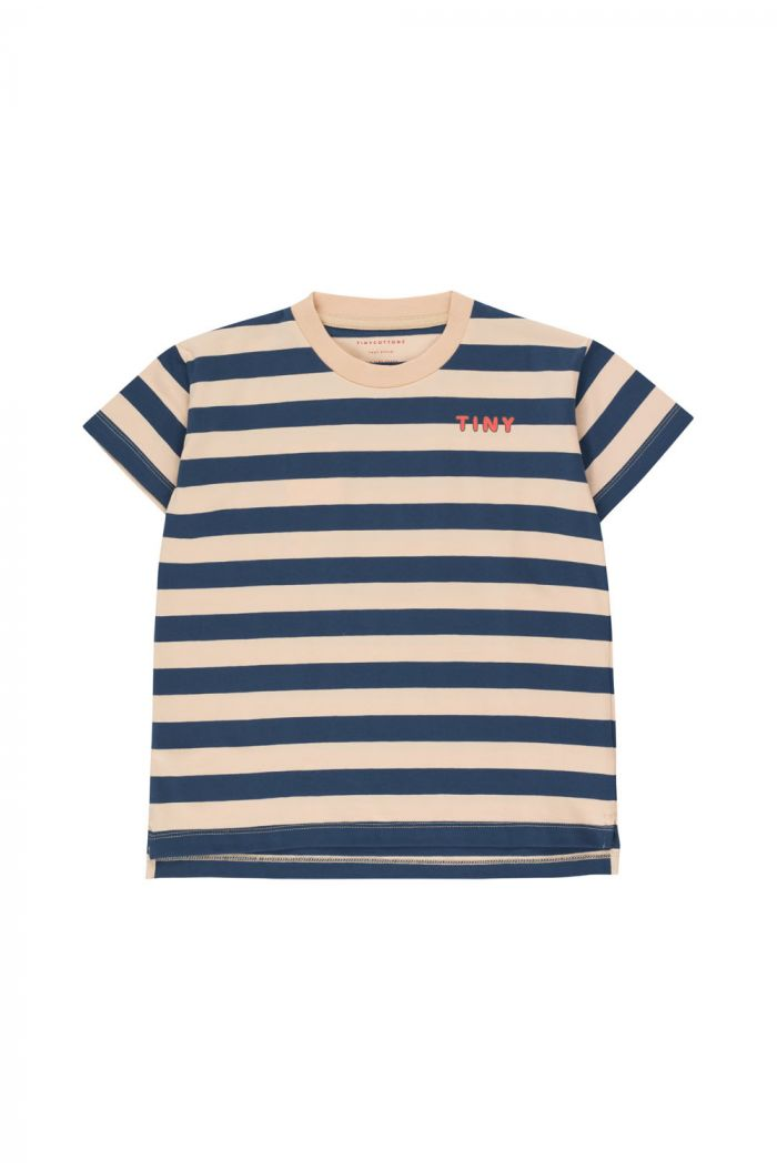 Tinycottons Tiny Stripes Tee cappuccino/light navy
