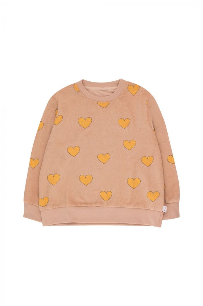 Tinycottons Hearts Sweatshirt light nude/yellow