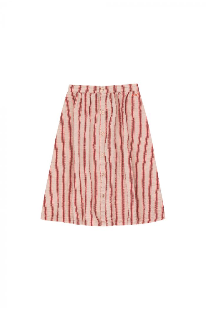 Tinycottons Retro Stripes Midi Skirt light nude/dark brown