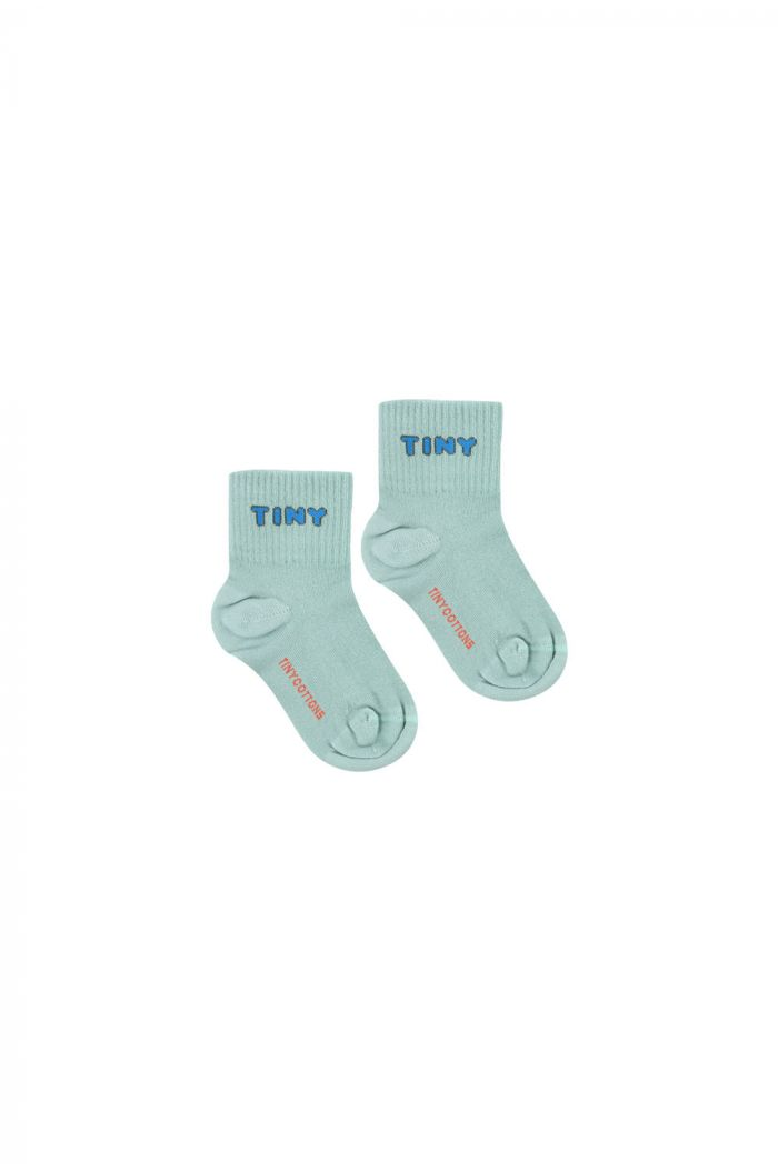 Tinycottons Tiny Quarter Socks sea green/cerulean blue