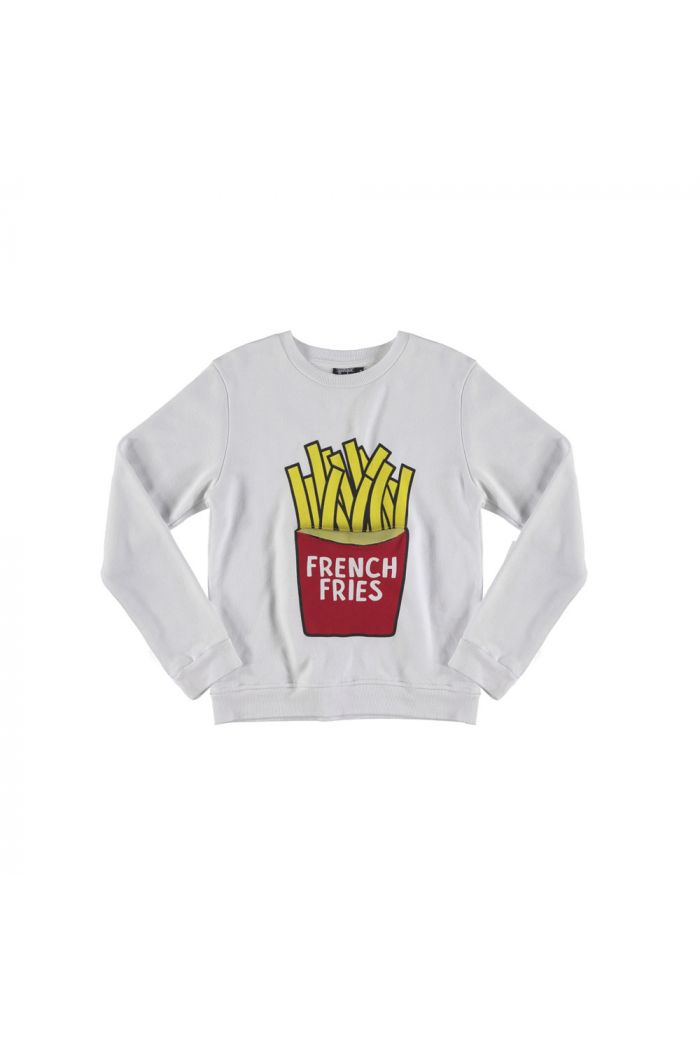 Yporqué French Fries Sweater White