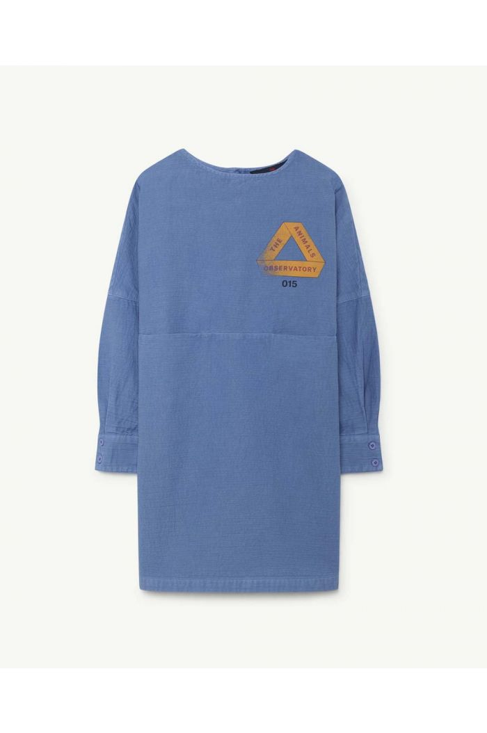 The Animals Observatory SWALLOW KIDS DRESS Blue Triangle