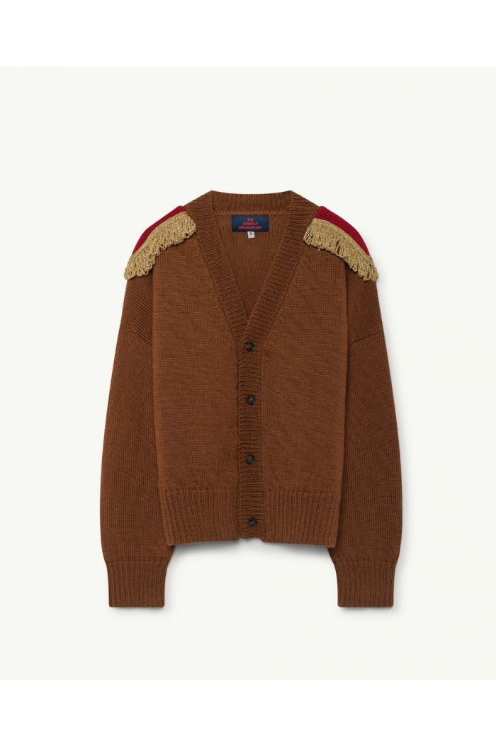 The Animals Observatory PLAIN PEASANT CARDIGAN Deep Brown